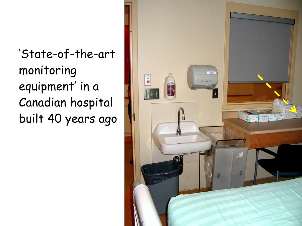 'State-of-the-art monitoring equipment' in a Canadian hospital built 40 years ago