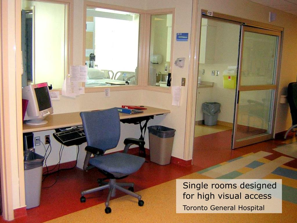 Single rooms designed for high visual access