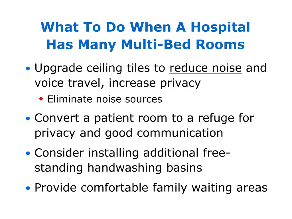 What To Do When A Hospital Has Many Multi-Bed Rooms
