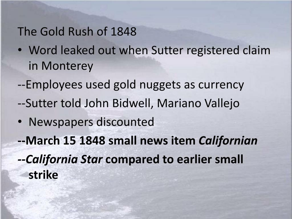 The Gold Rush of 1848