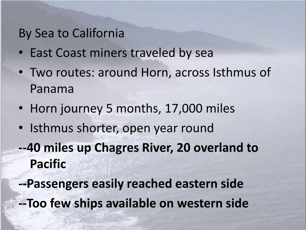 By Sea to California
