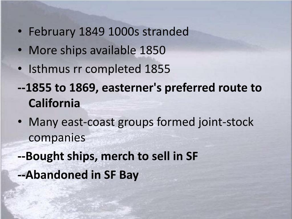 February 1849 1000s stranded