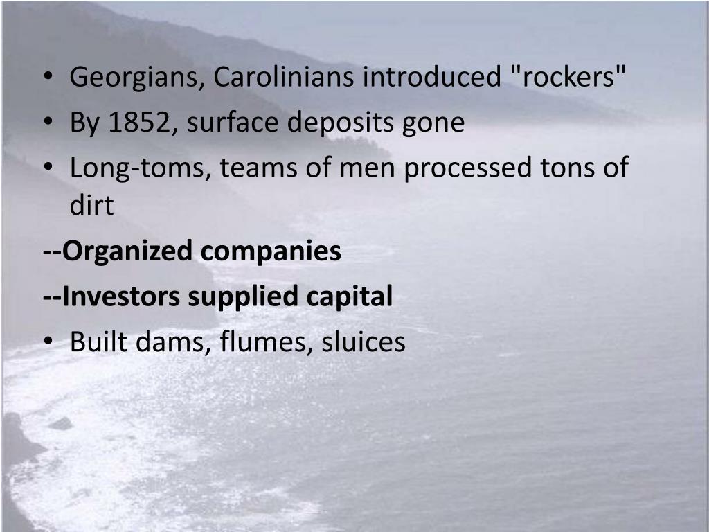 "Georgians, Carolinians introduced ""rockers"""