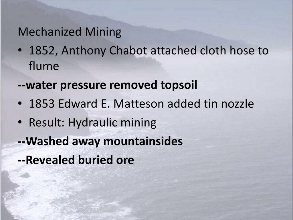 Mechanized Mining