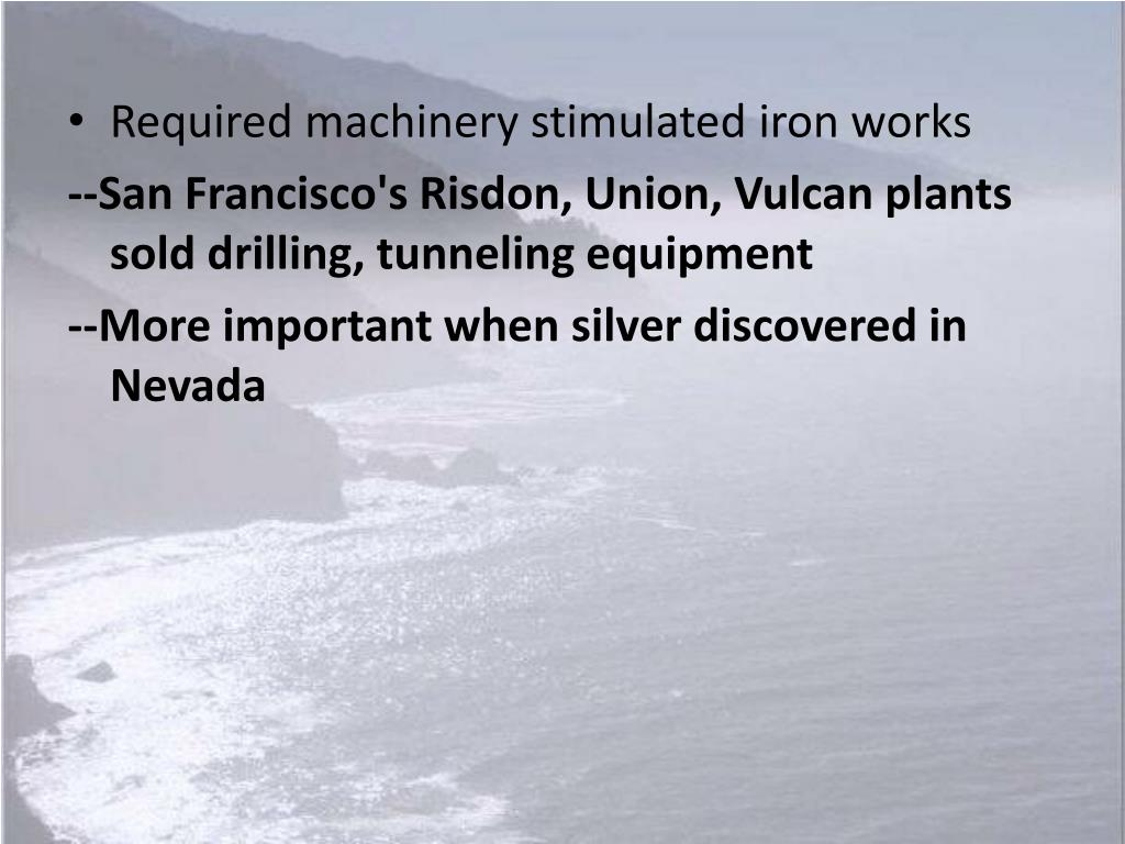 Required machinery stimulated iron works