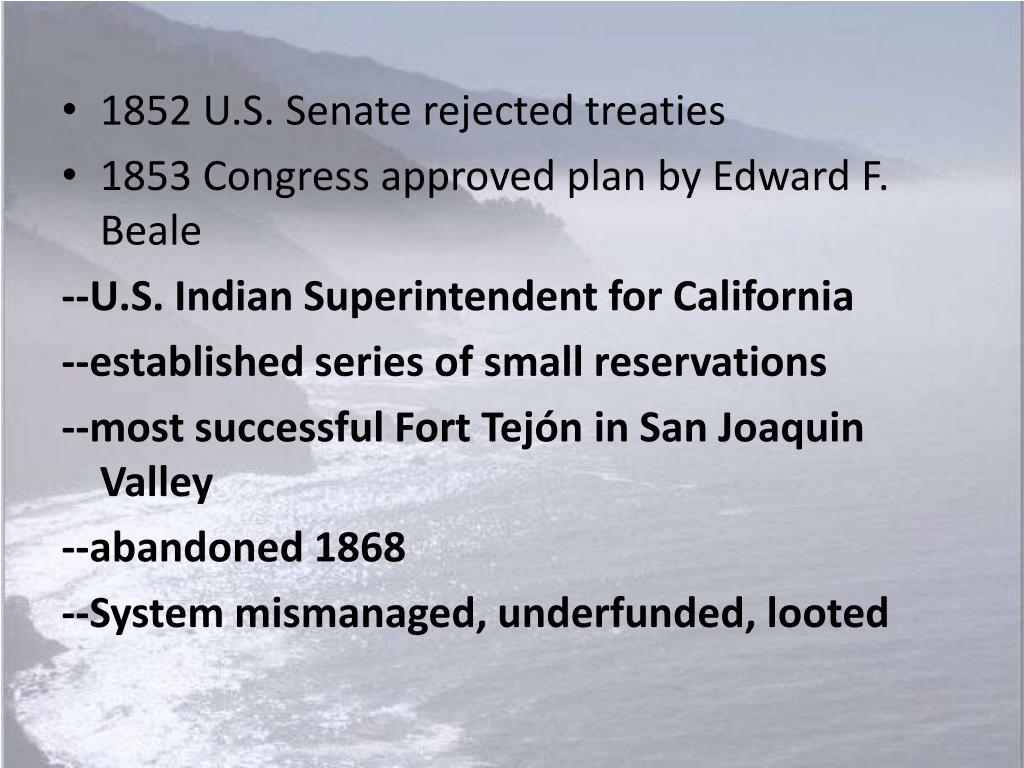 1852 U.S. Senate rejected treaties