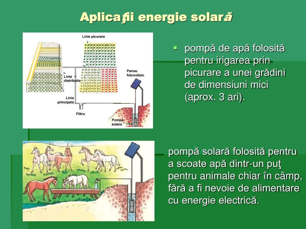 pompă de apă folosită pentru irigarea prin picurare a unei grădini de dimensiuni mici (aprox. 3 ari).