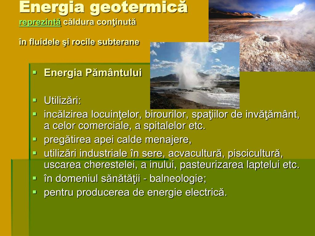 Energia geotermică