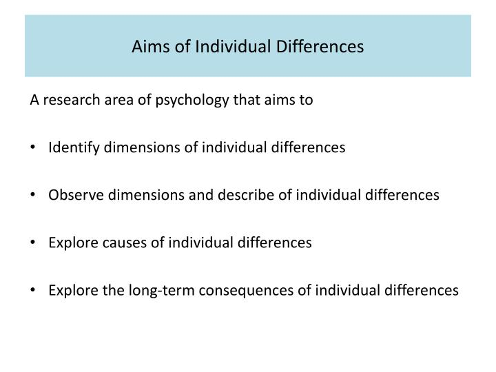 Aims of individual differences l.jpg