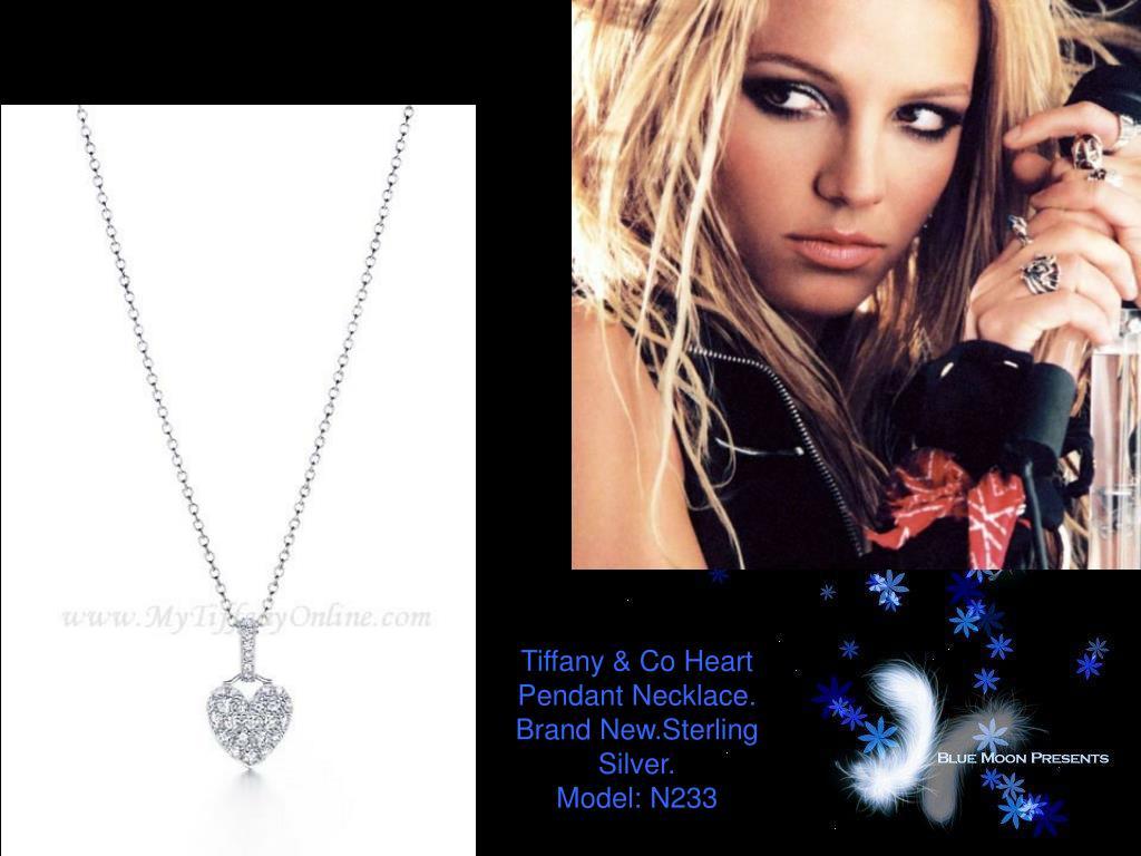 Tiffany & Co Heart Pendant Necklace.
