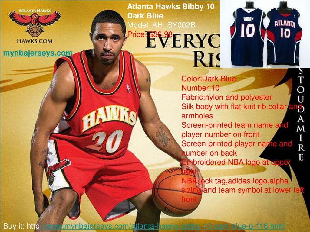 Atlanta Hawks Bibby 10 Dark Blue