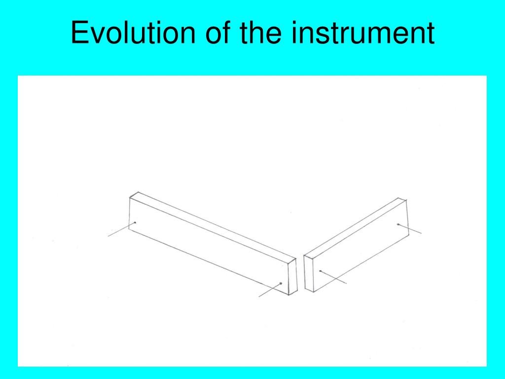 Evolution of the instrument