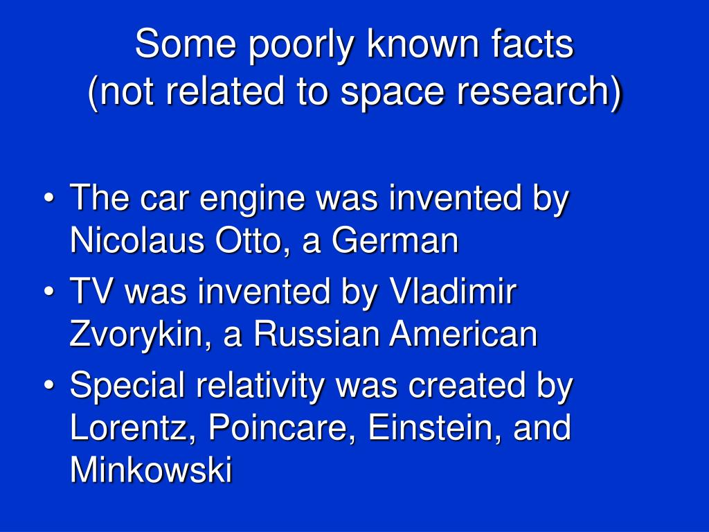 Some poorly known facts