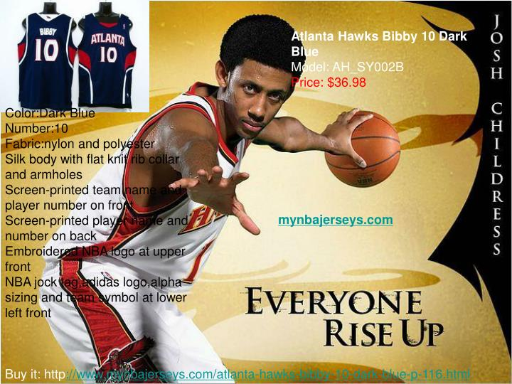 Atlanta Hawks Bibby 10 Dark Blue