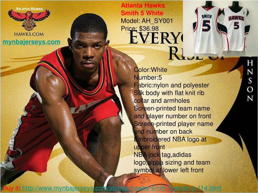 Atlanta Hawks Smith 5 White