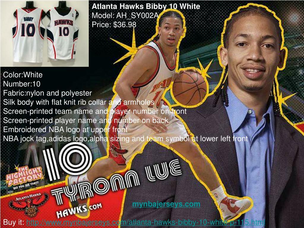 Atlanta Hawks Bibby 10 White