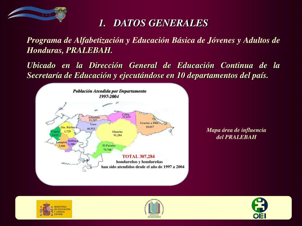 Población Atendida por Departamento