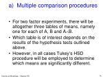 a multiple comparison procedures