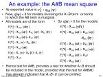 an example the a b mean square