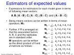 estimators of expected values