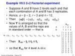 example vii 5 2 2 factorial experiment