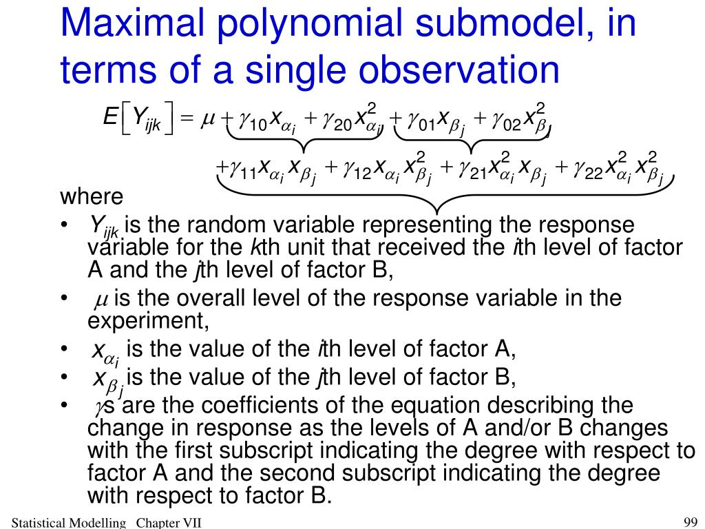 Maximal polynomial submodel, in terms of a single observation