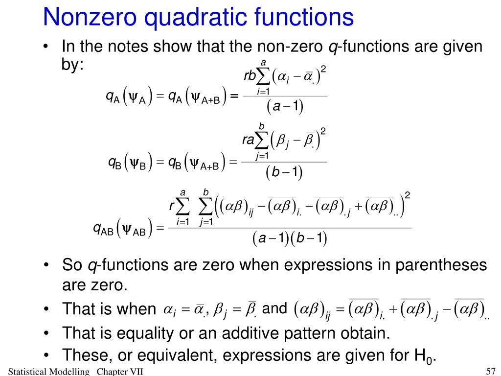 Nonzero quadratic functions