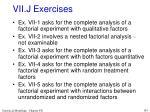 vii j exercises