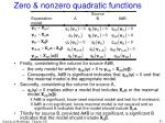 zero nonzero quadratic functions