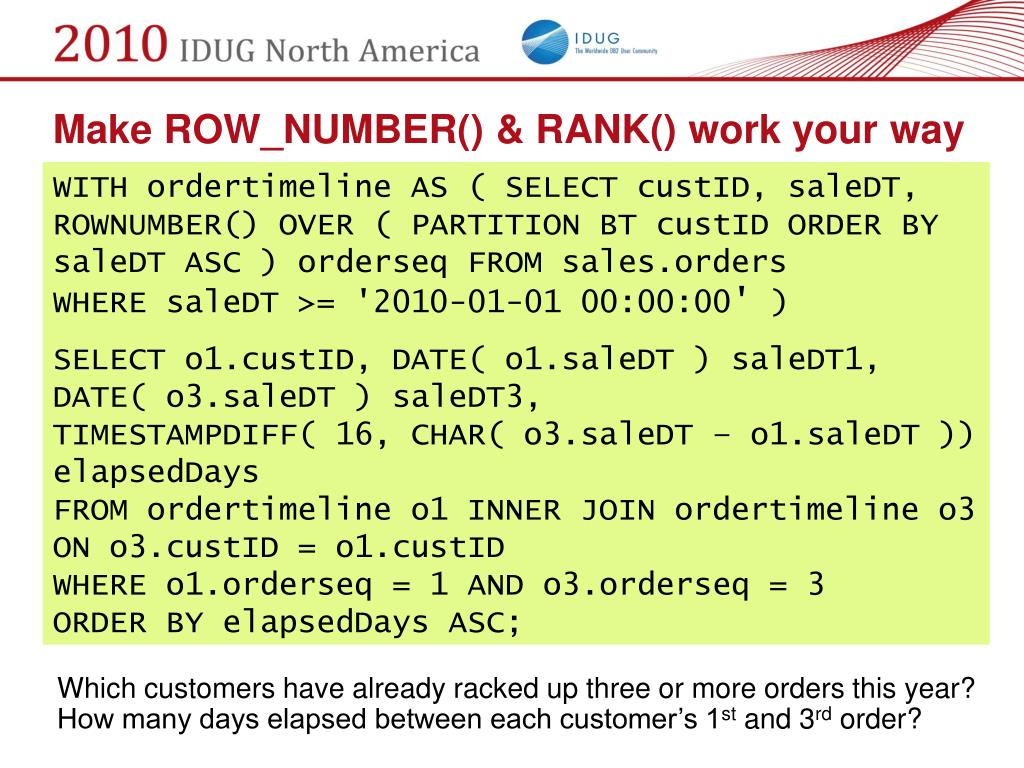 Make ROW_NUMBER() & RANK() work your way
