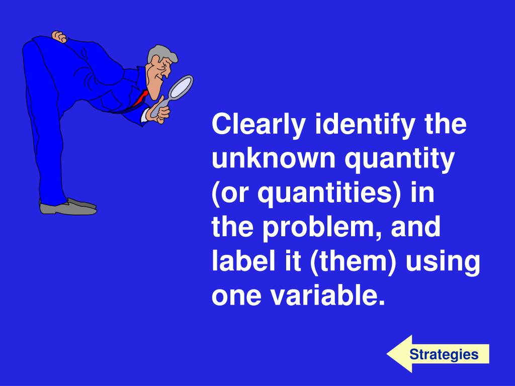 Clearly identify