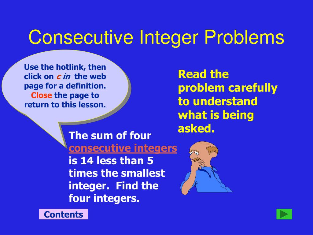 Consecutive Integer Problems