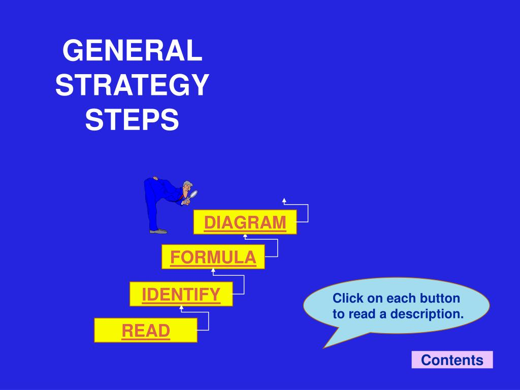 GENERAL STRATEGY STEPS
