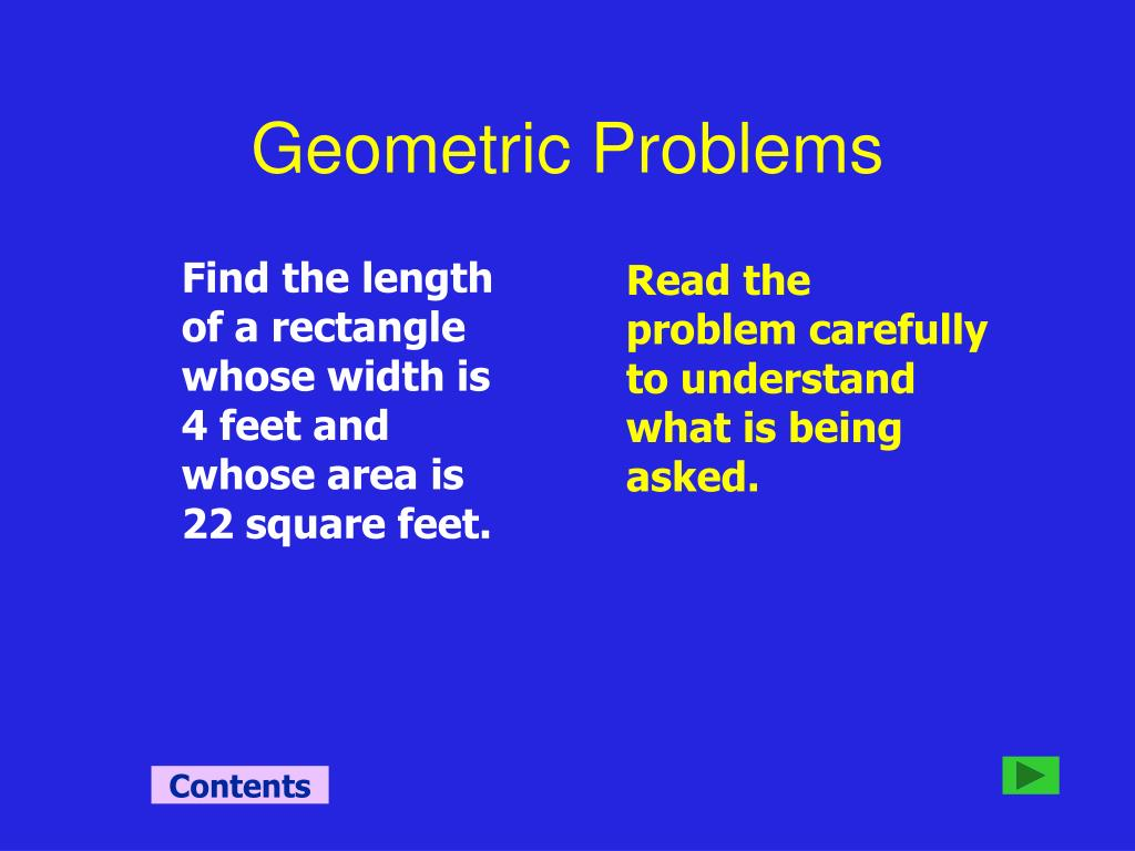 Geometric Problems