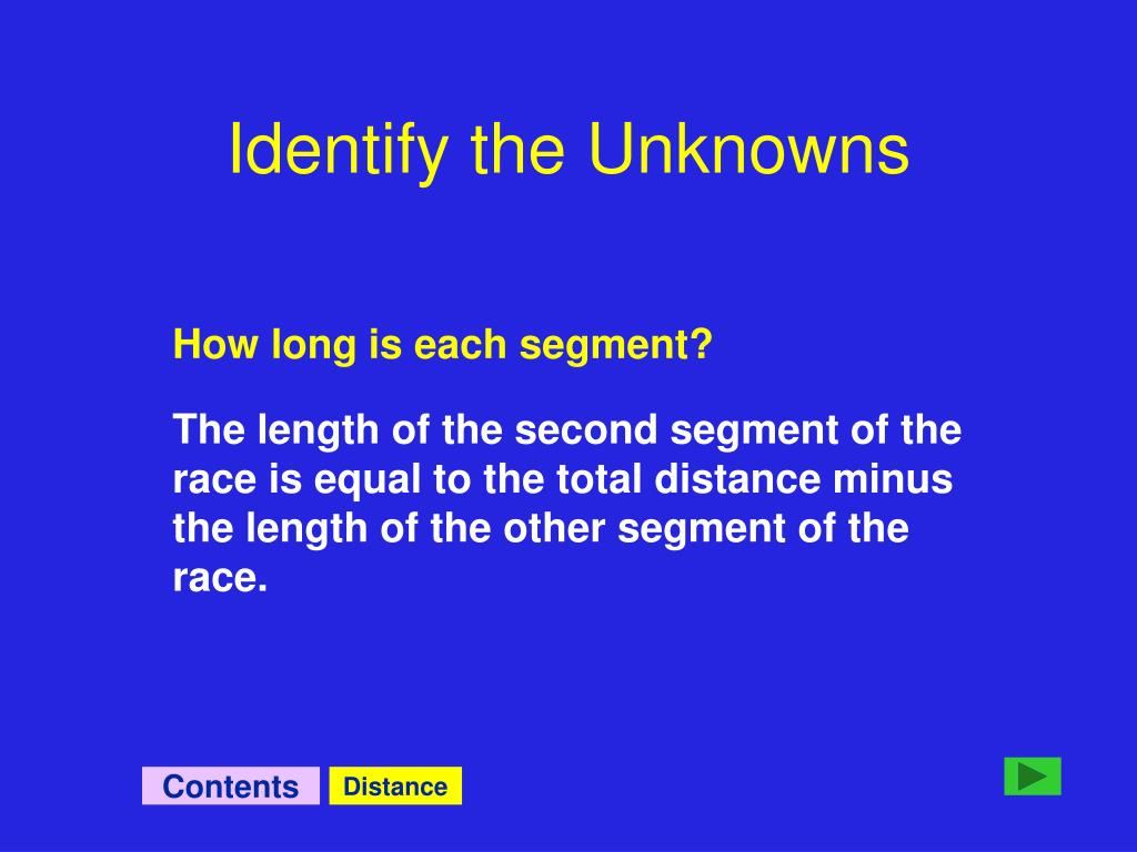 Identify the Unknowns