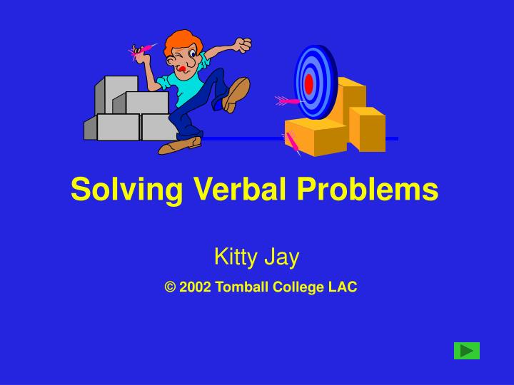 Solving verbal problems