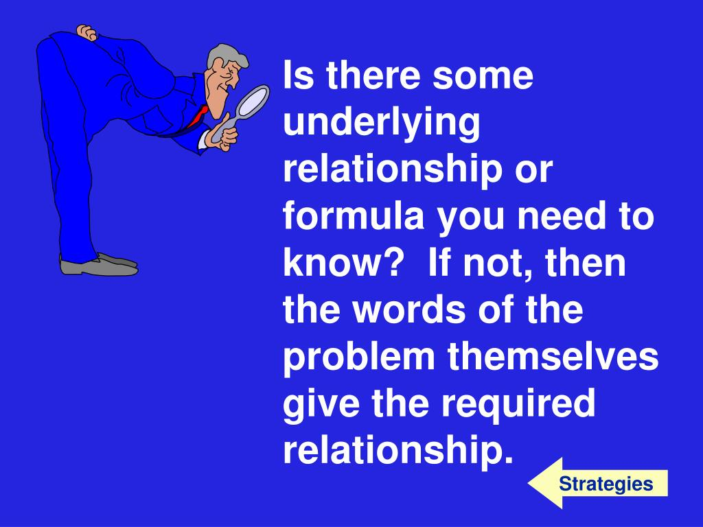 underlying relationship