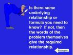 underlying relationship