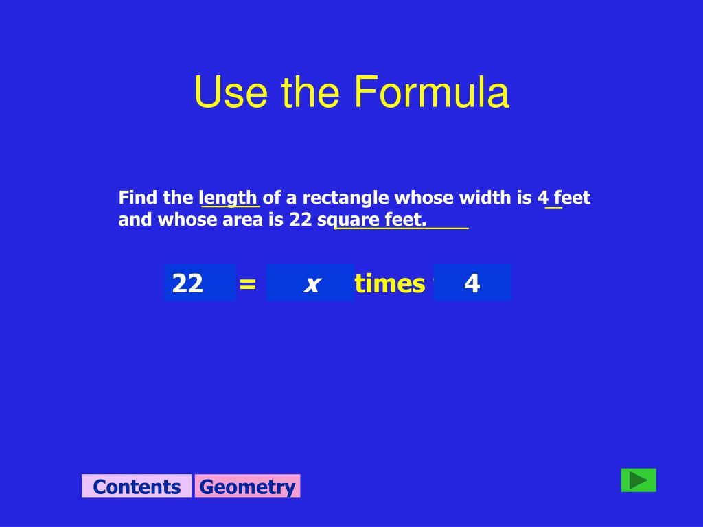 Use the Formula