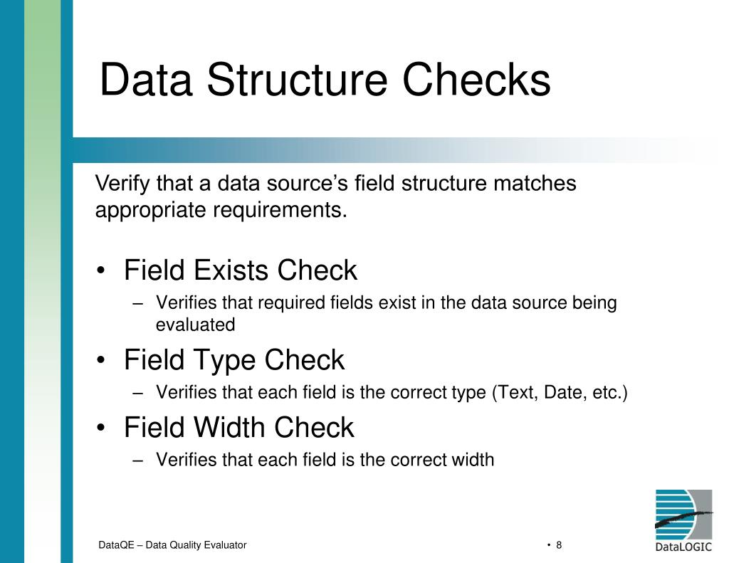 Data Structure Checks