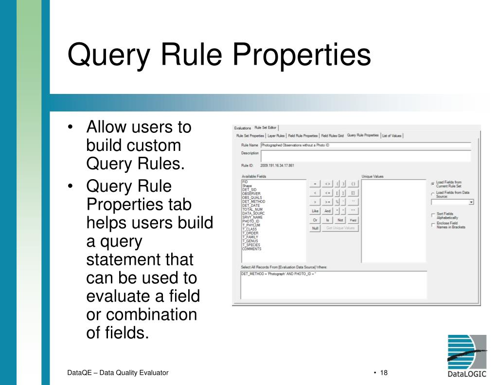 Query Rule Properties