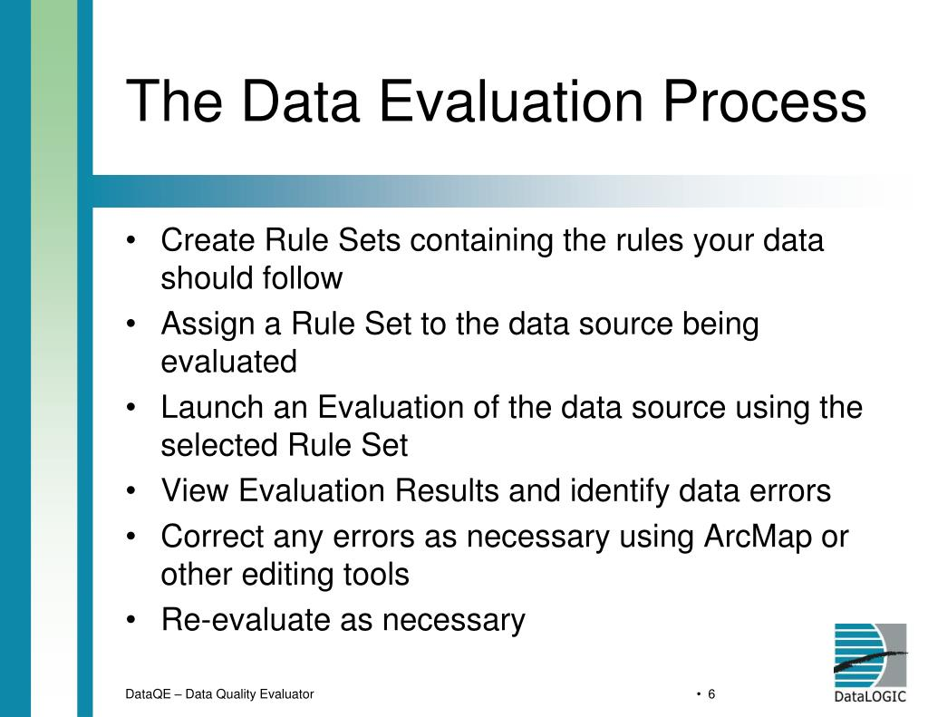 The Data Evaluation Process