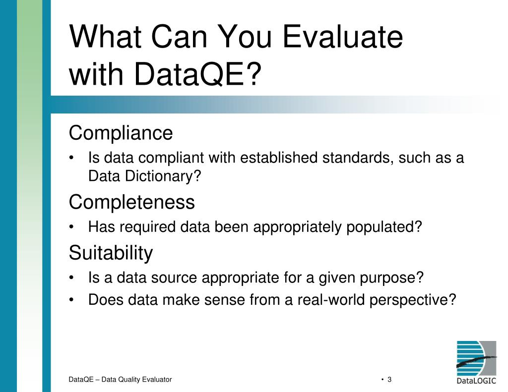 What Can You Evaluate with DataQE?