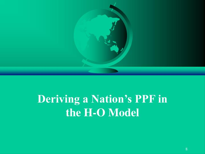 Deriving a Nation's PPF in