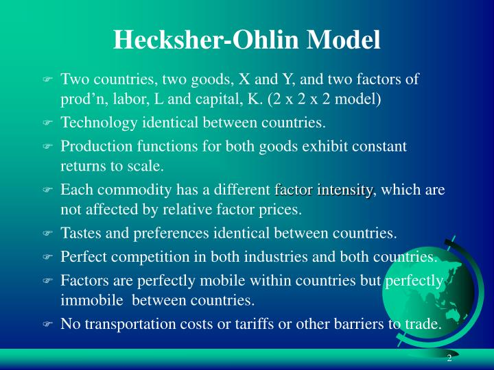 Hecksher-Ohlin Model