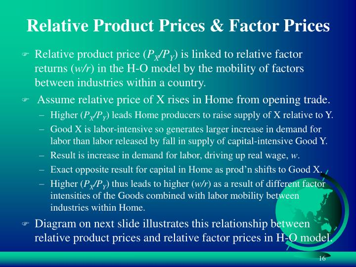 Relative Product Prices & Factor Prices