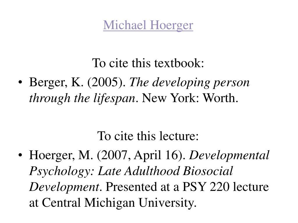 Michael Hoerger