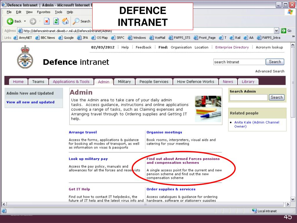 DEFENCE INTRANET