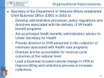 organizational improvements