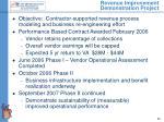 revenue improvement demonstration project
